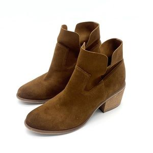 BP Brown Suede Fold Over Booties Size 8.5